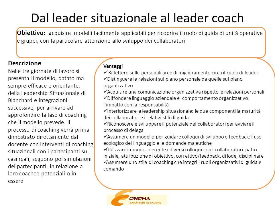 Dal leader situazionale al leader coach