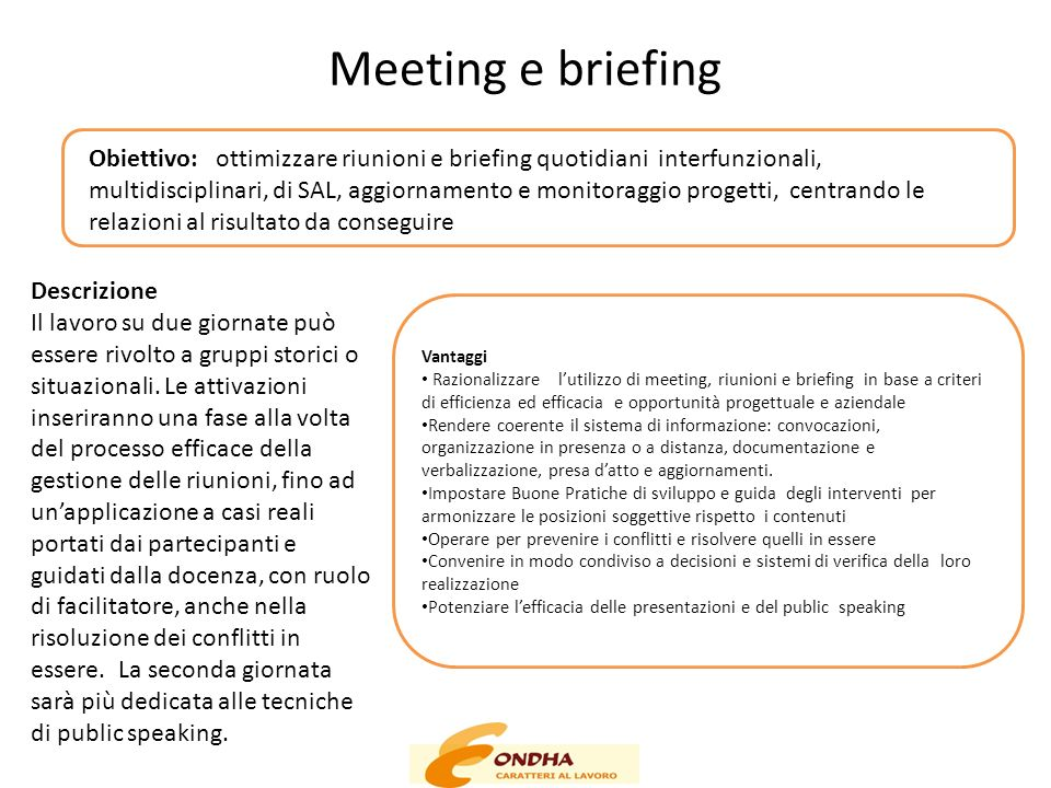 Meeting e briefing