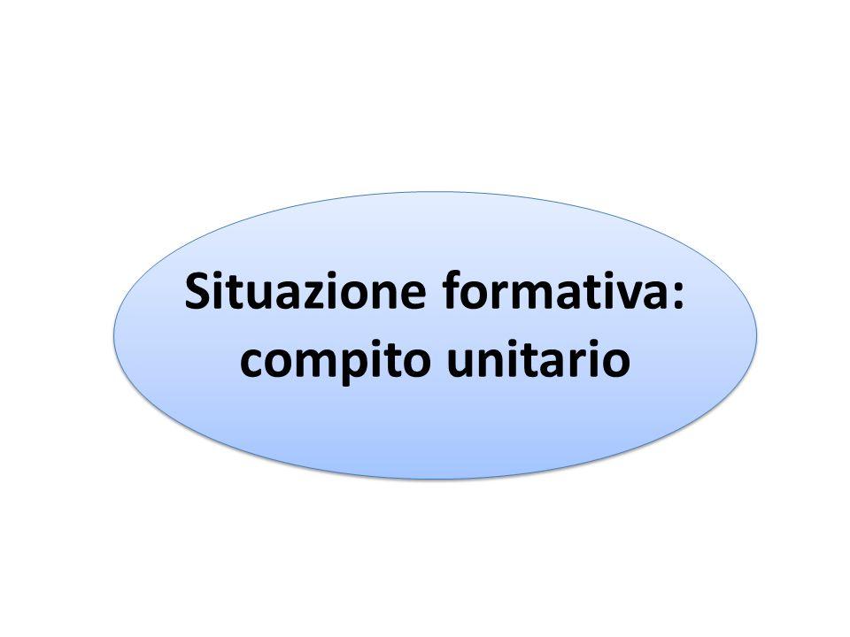 Situazione formativa: compito unitario