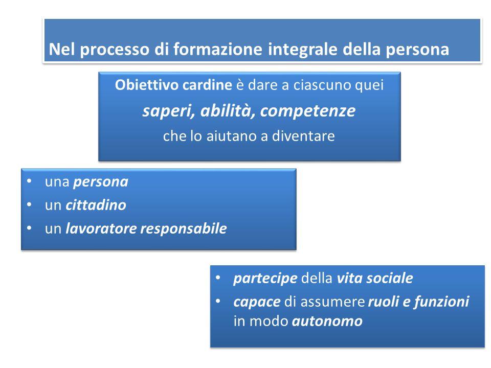 Nel processo di formazione integrale della persona
