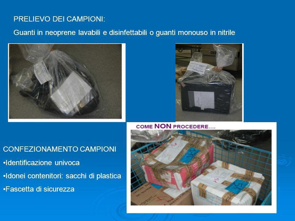 PRELIEVO DEI CAMPIONI: