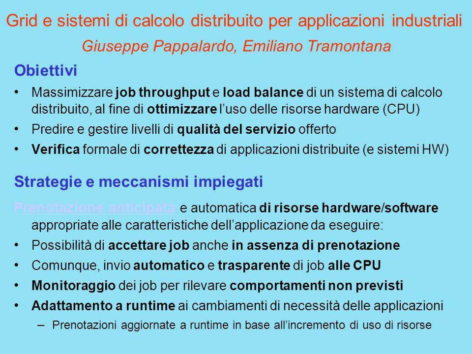 Grid e sistemi di calcolo distribuito per applicazioni industriali