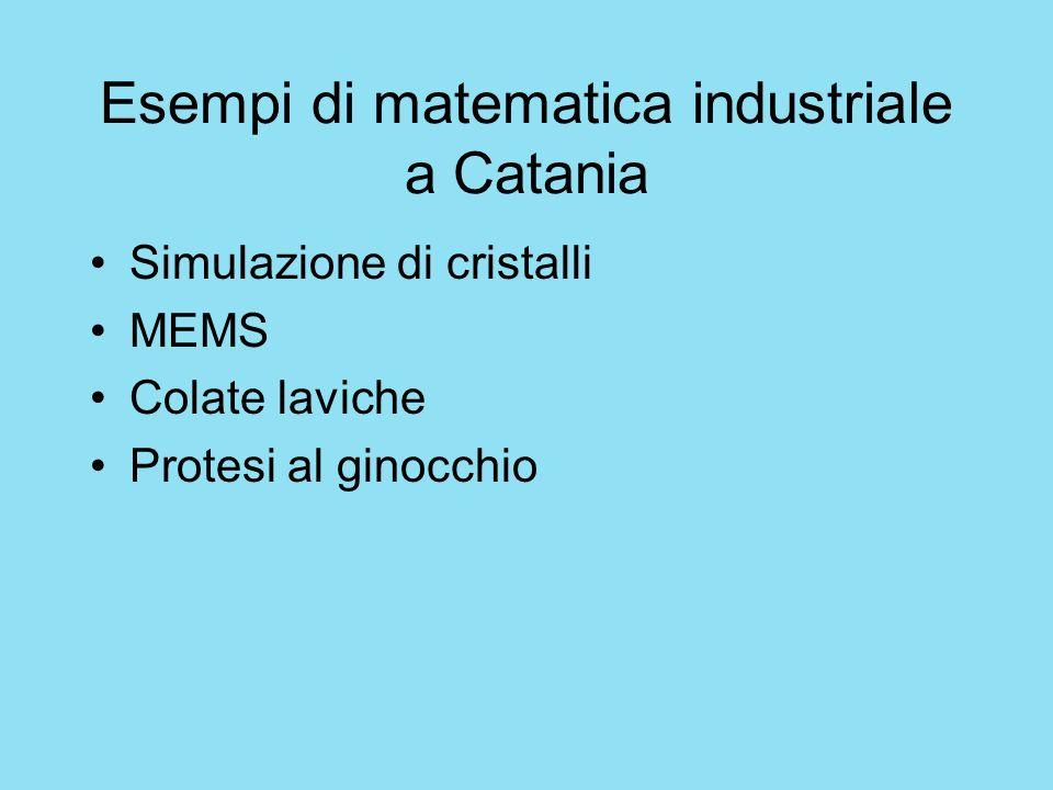 Esempi di matematica industriale a Catania