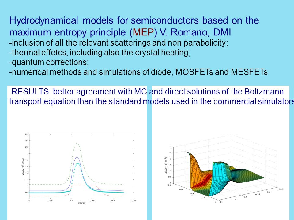 Hydrodynamical models for semiconductors based on the maximum entropy principle (MEP) V.