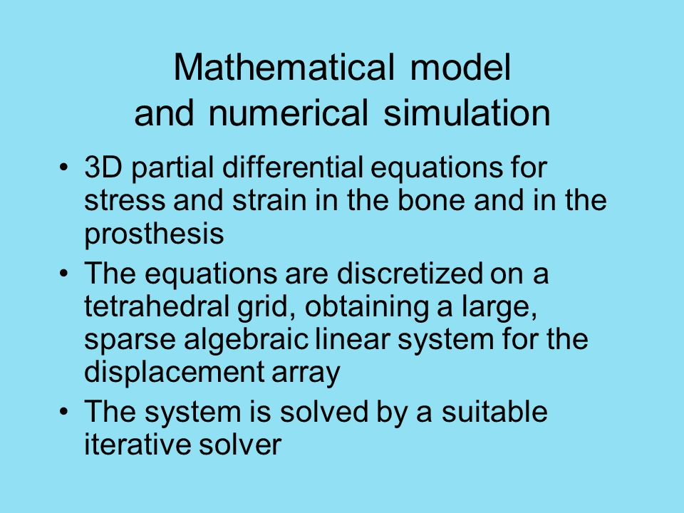 Mathematical model and numerical simulation