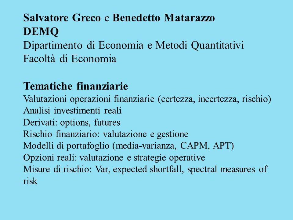 Salvatore Greco e Benedetto Matarazzo DEMQ