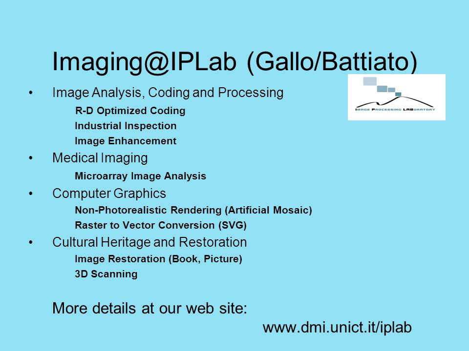 Imaging@IPLab (Gallo/Battiato)
