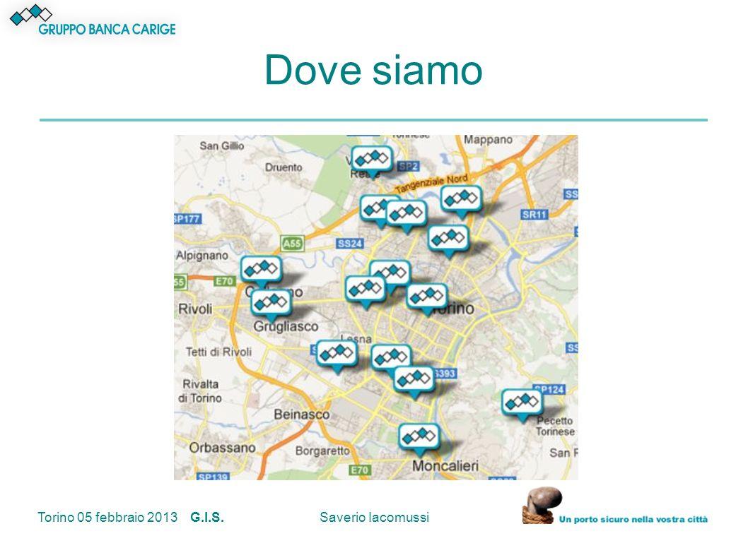 Dove siamo Torino 05 febbraio 2013 G.I.S. Saverio Iacomussi