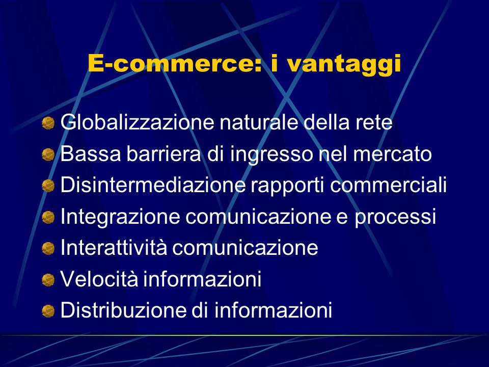 E-commerce: i vantaggi