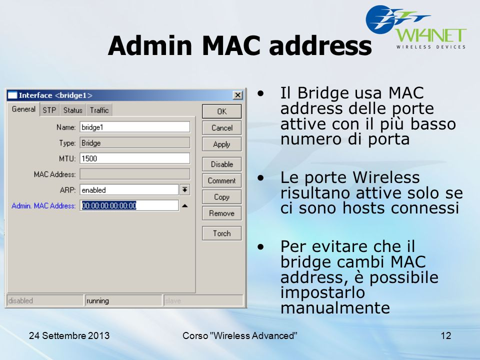 Corso Wireless Advanced