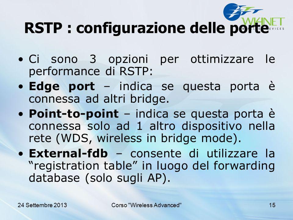 RSTP : configurazione delle porte