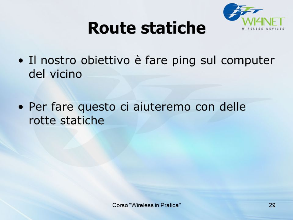 Corso Wireless in Pratica