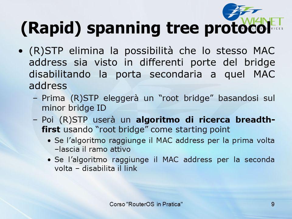 (Rapid) spanning tree protocol