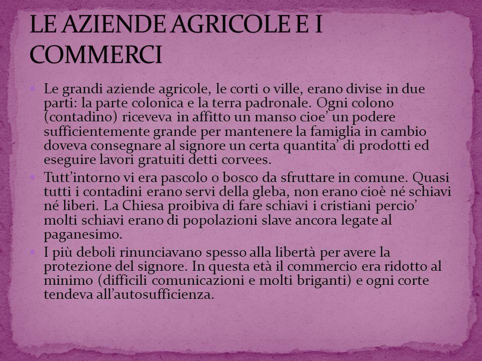 LE AZIENDE AGRICOLE E I COMMERCI