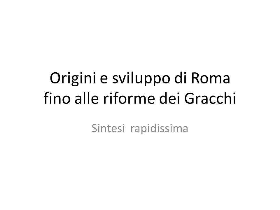 Origini e sviluppo di Roma fino alle riforme dei Gracchi