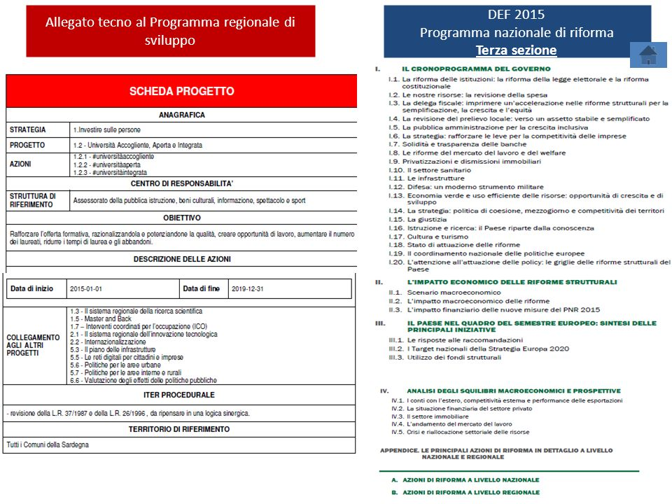 Allegato tecno al Programma regionale di sviluppo DEF 2015
