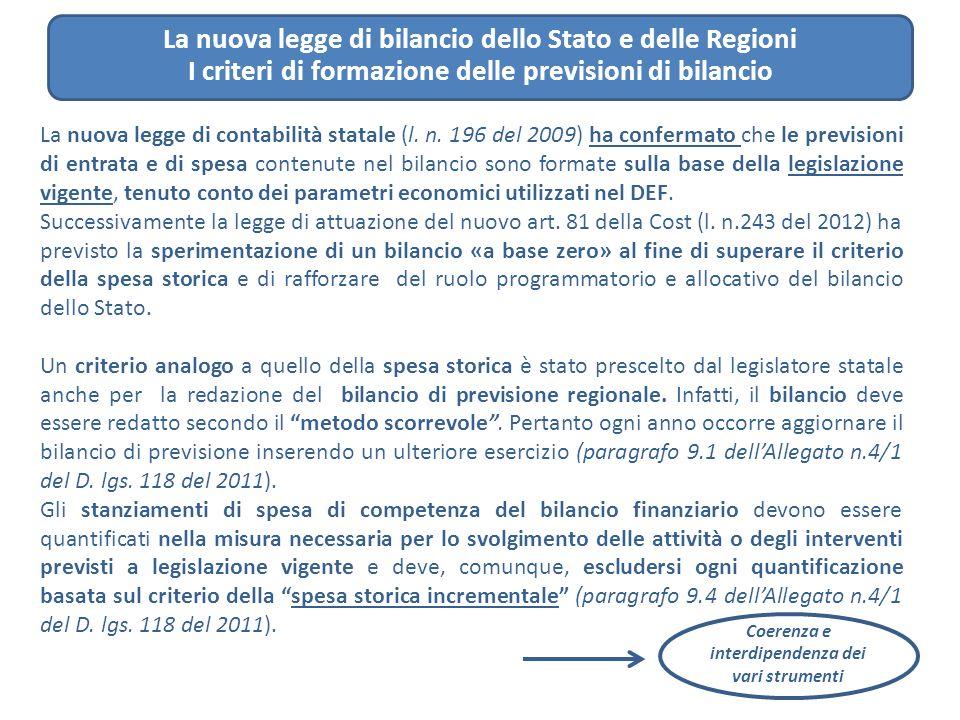 La nuova legge di bilancio dello Stato e delle Regioni