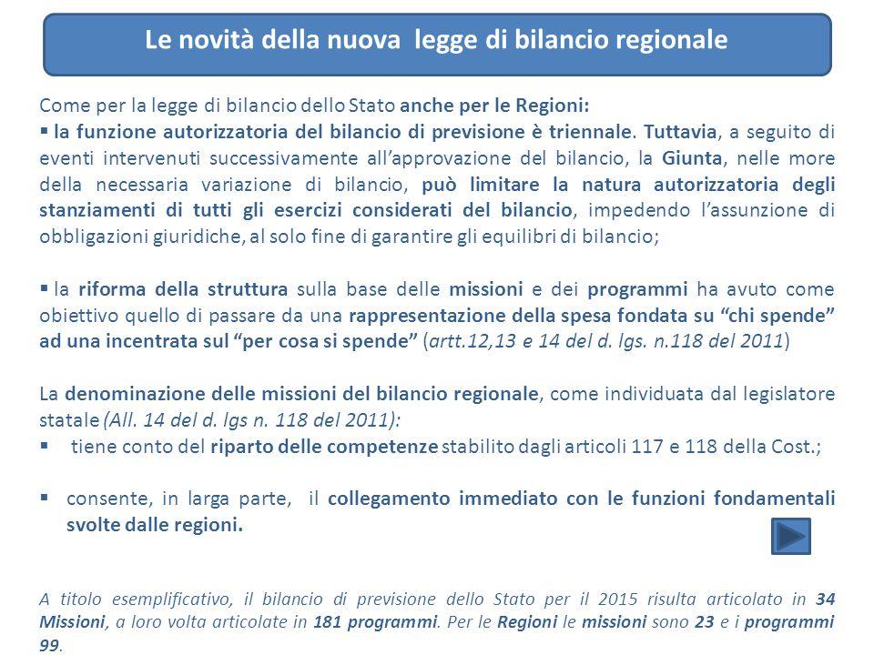 Le novità della nuova legge di bilancio regionale
