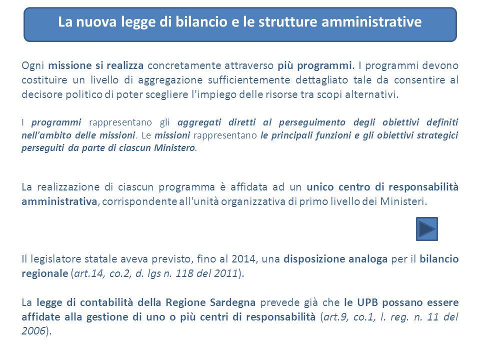 La nuova legge di bilancio e le strutture amministrative