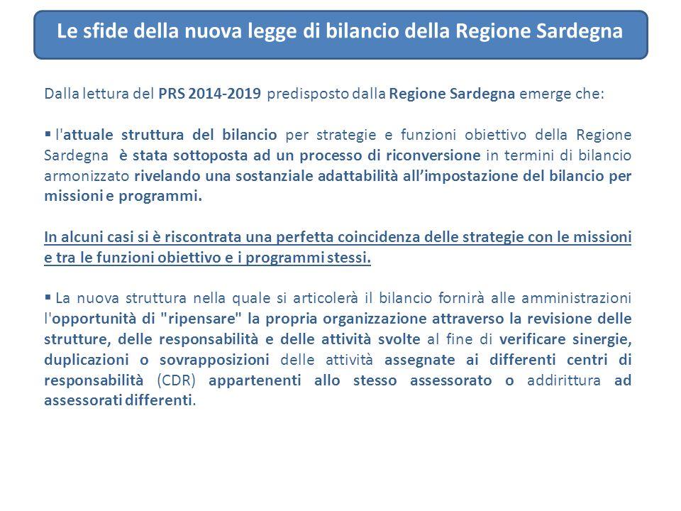 Le sfide della nuova legge di bilancio della Regione Sardegna