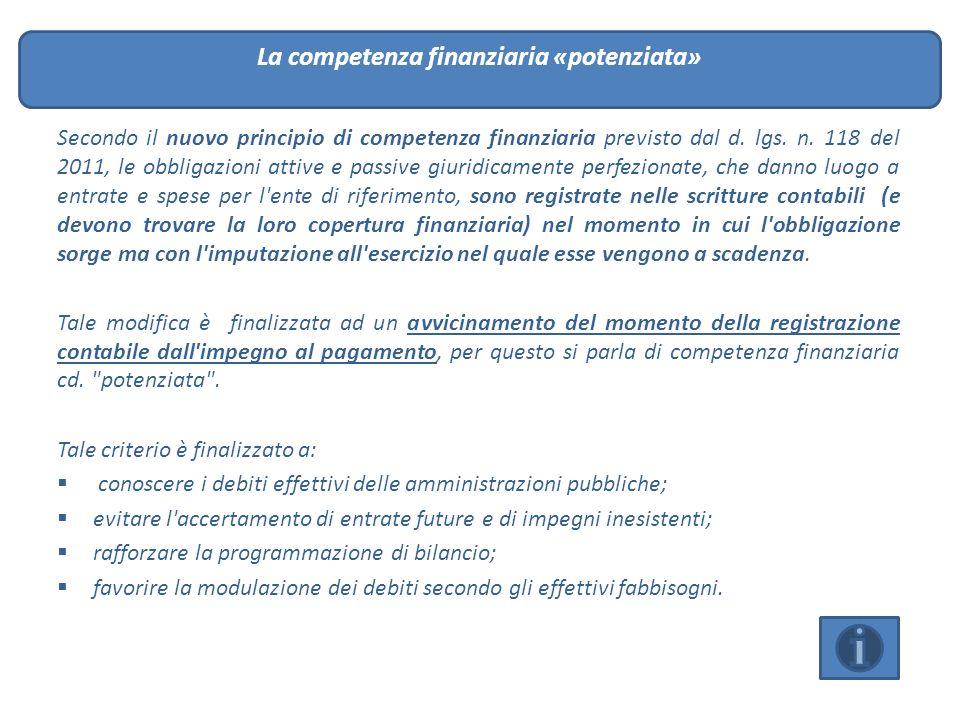 La competenza finanziaria «potenziata»