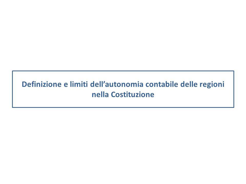 Definizione e limiti dell'autonomia contabile delle regioni nella Costituzione