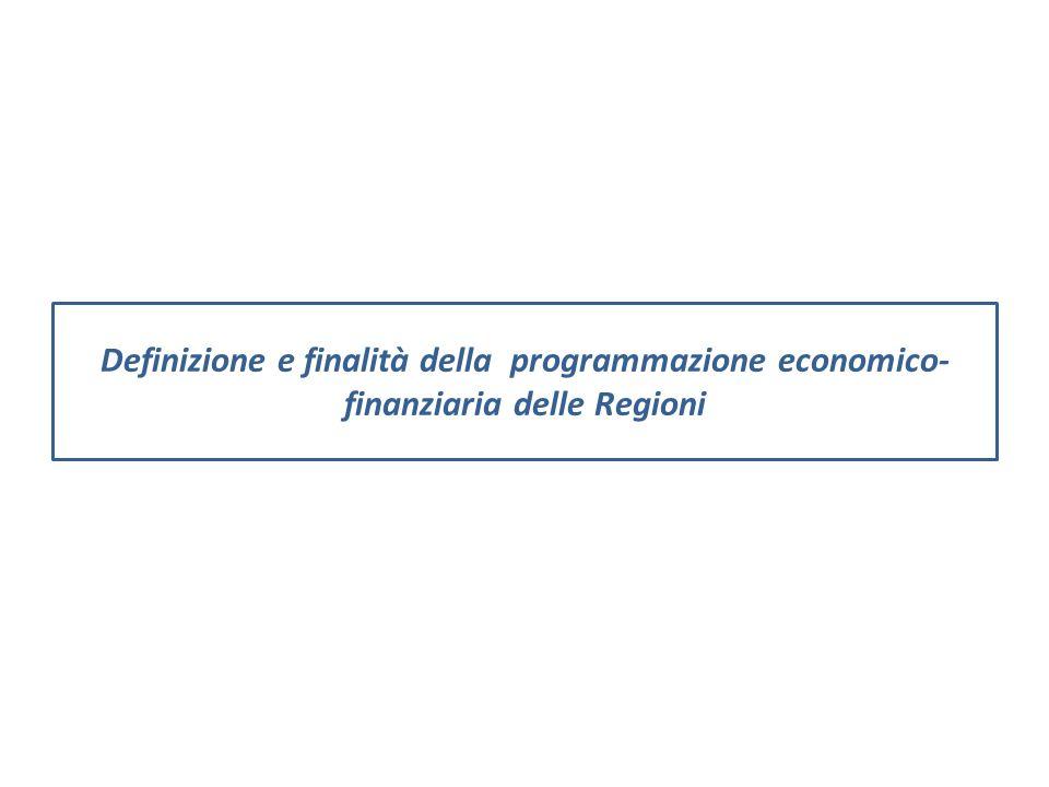 Definizione e finalità della programmazione economico-finanziaria delle Regioni