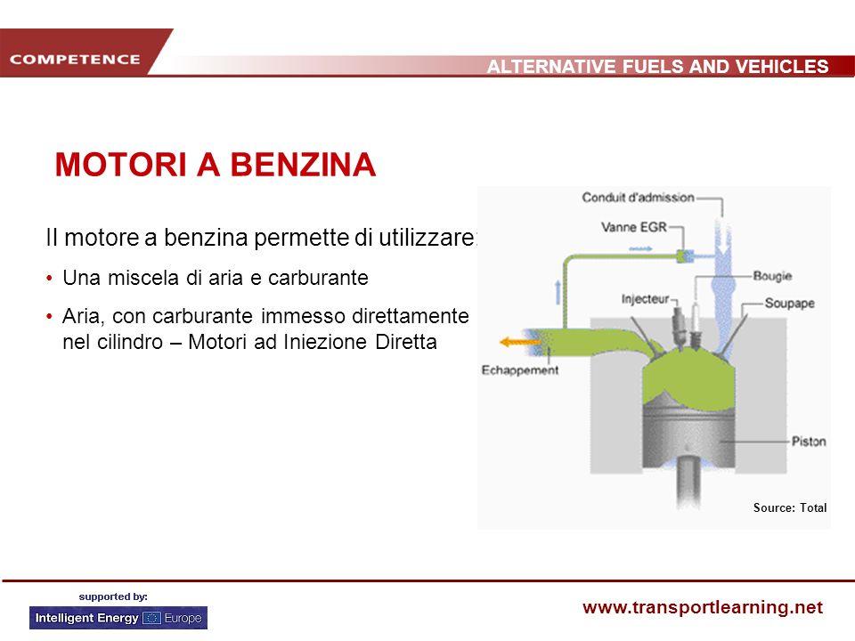 MOTORI A BENZINA Il motore a benzina permette di utilizzare: