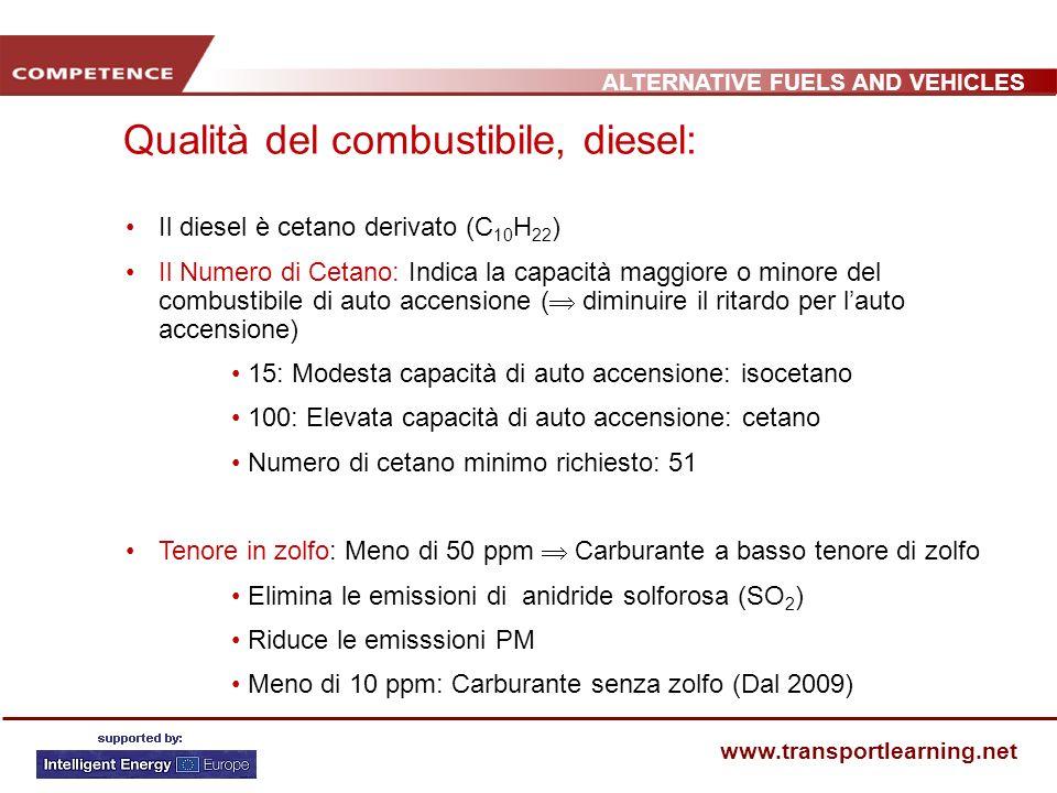 Qualità del combustibile, diesel: