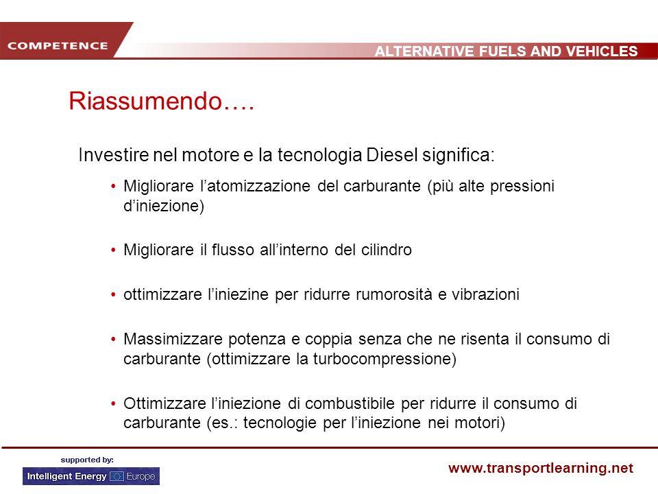 Riassumendo…. Investire nel motore e la tecnologia Diesel significa: