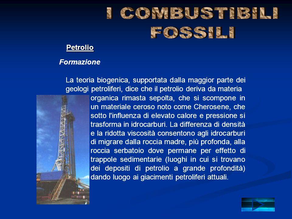 I COMBUSTIBILI FOSSILI Petrolio Formazione