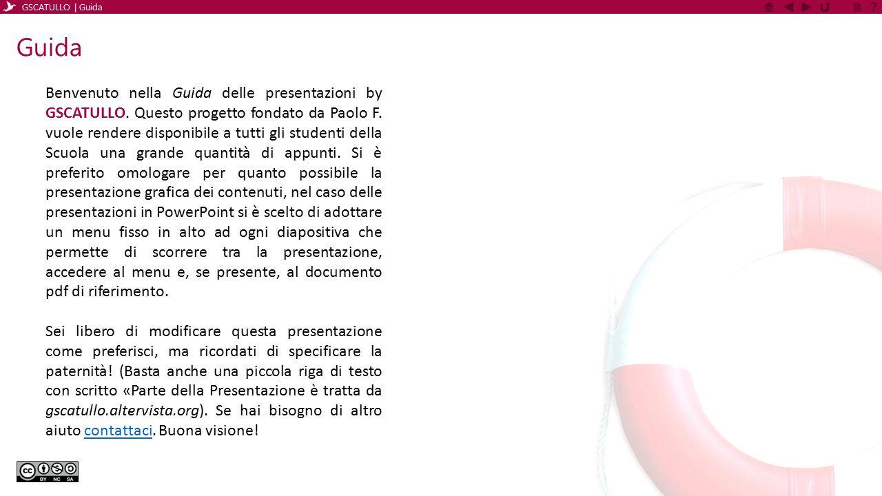 GSCATULLO | Guida Guida.