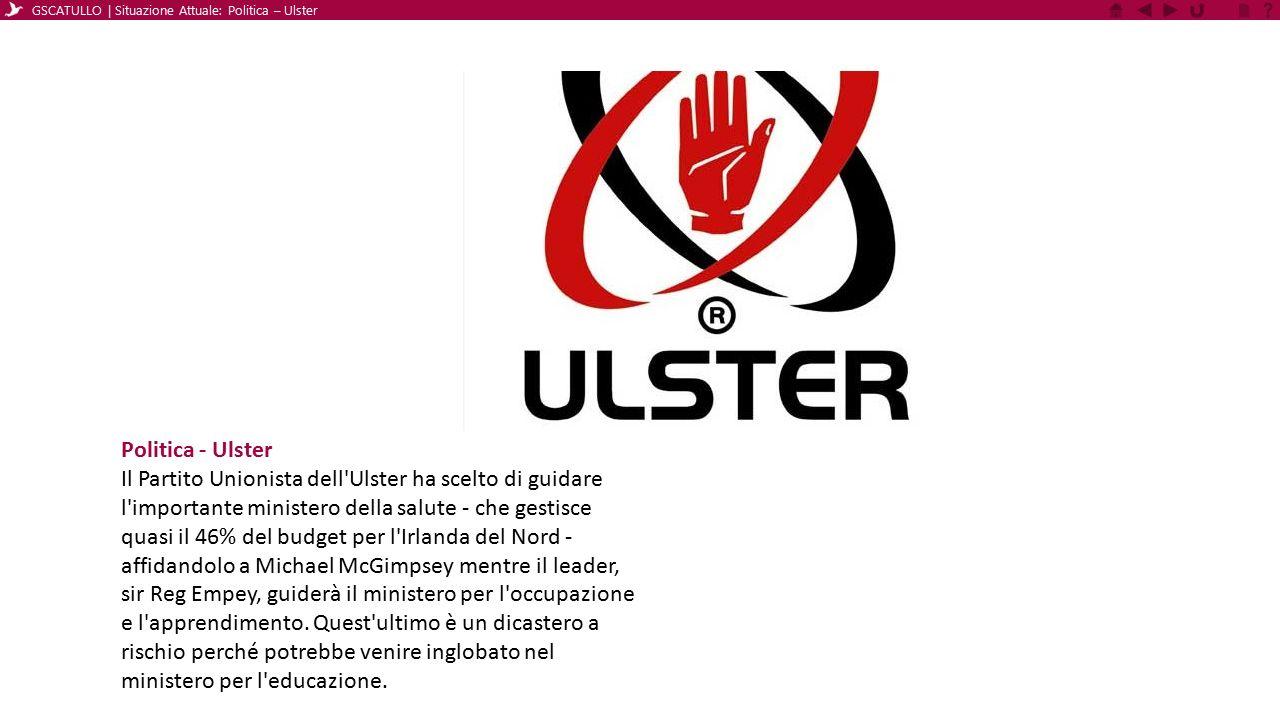 GSCATULLO | Situazione Attuale: Politica – Ulster