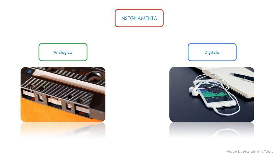 INSEGNAMENTO Analogico Digitale Modulo 2: quinta lezione - A. Todaro