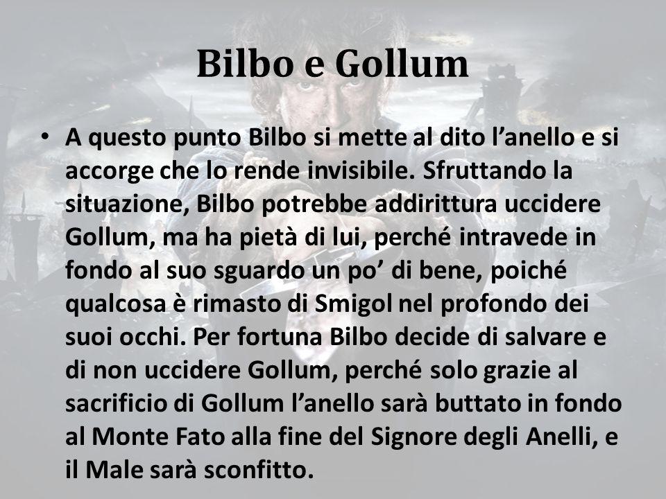 Bilbo e Gollum