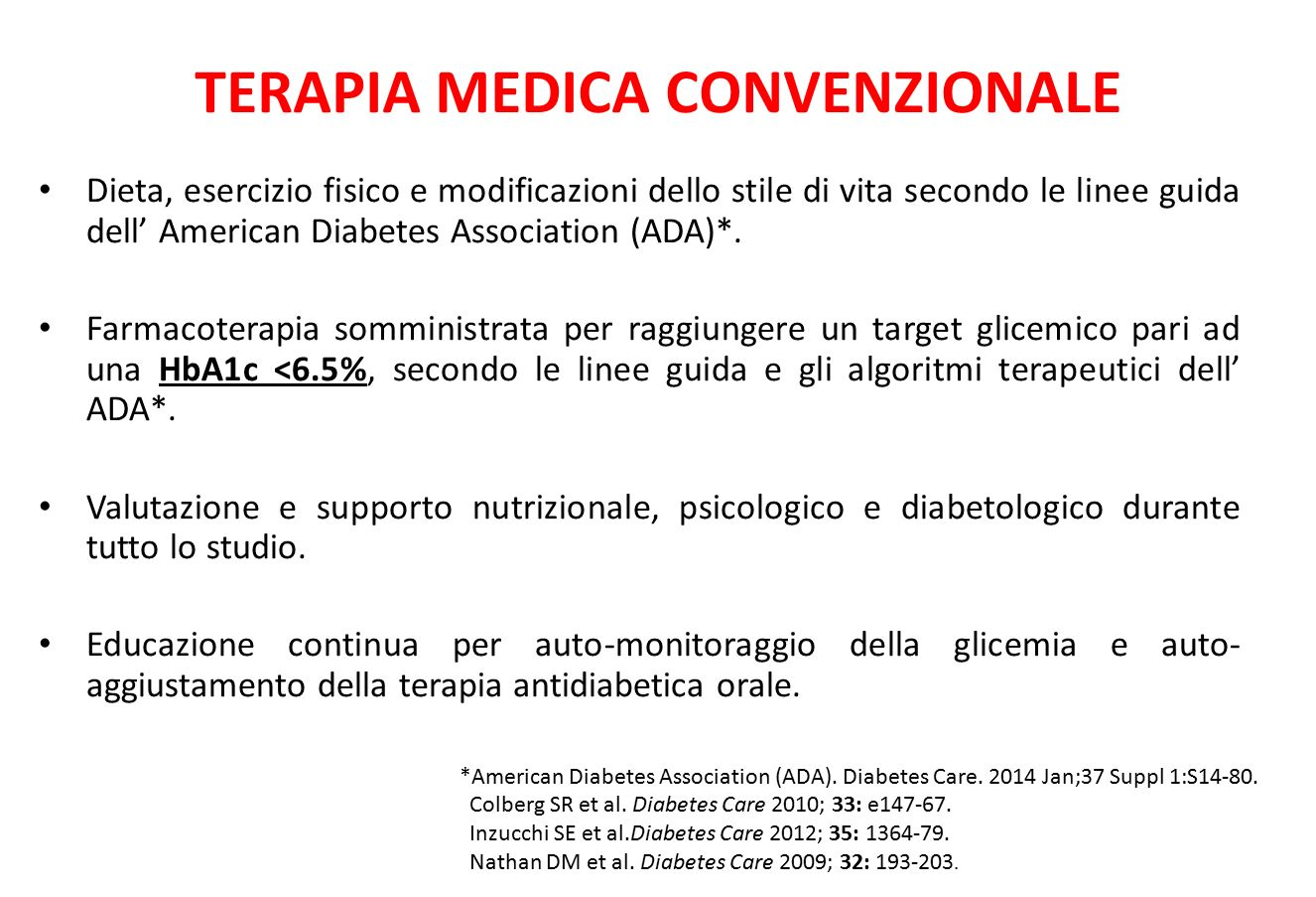 TERAPIA MEDICA CONVENZIONALE