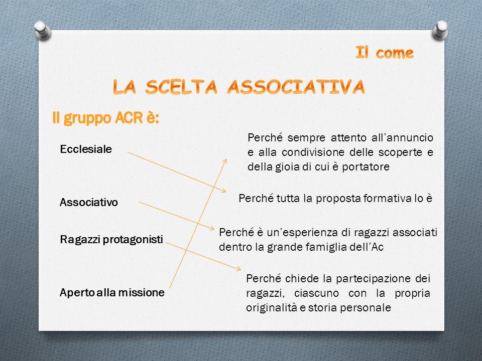 LA SCELTA ASSOCIATIVA Il come Il gruppo ACR è: