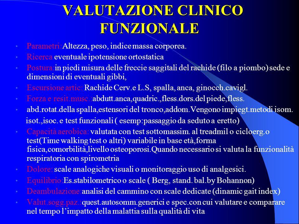 VALUTAZIONE CLINICO FUNZIONALE