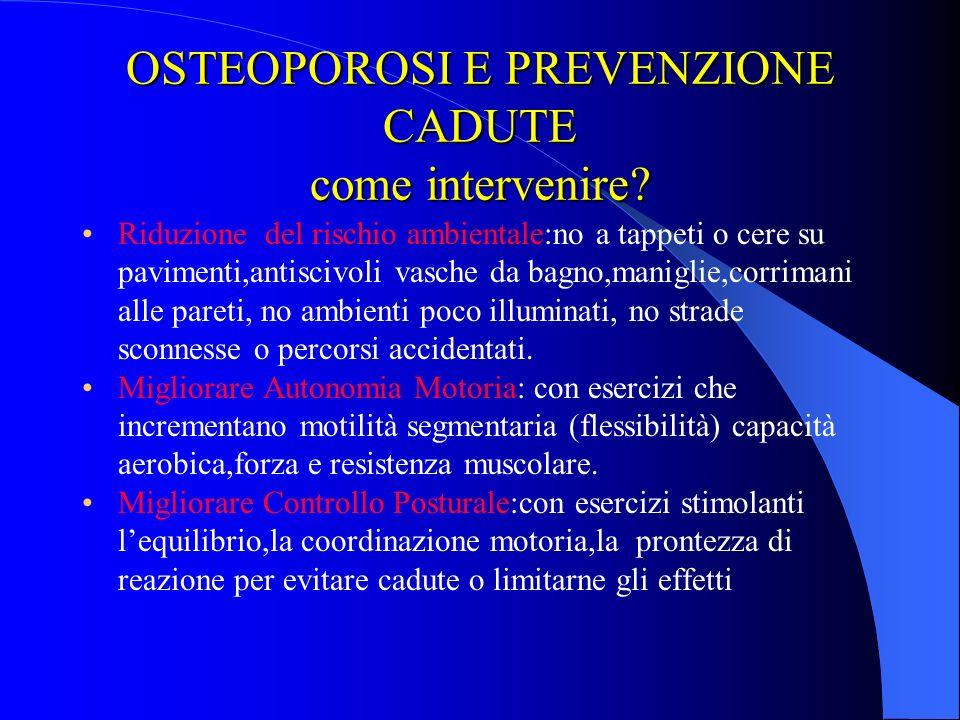 OSTEOPOROSI E PREVENZIONE CADUTE come intervenire