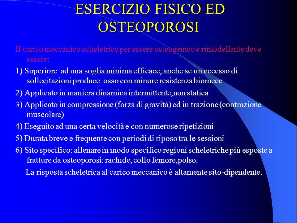 ESERCIZIO FISICO ED OSTEOPOROSI