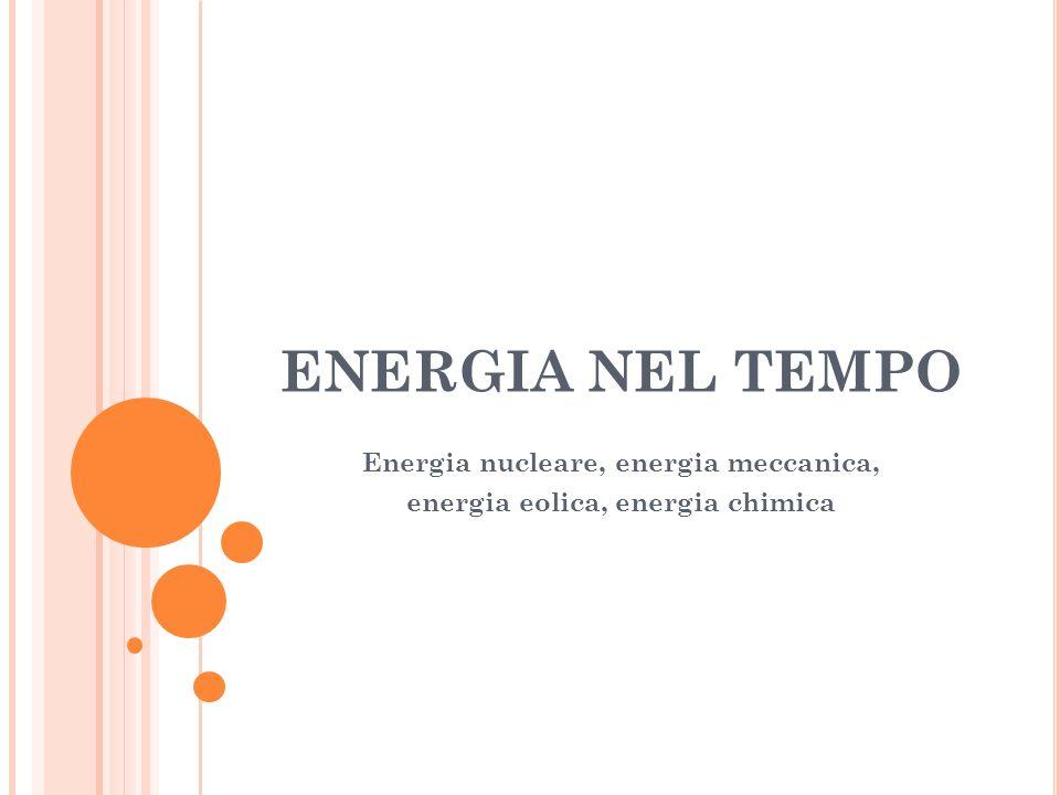 Energia nucleare, energia meccanica, energia eolica, energia chimica