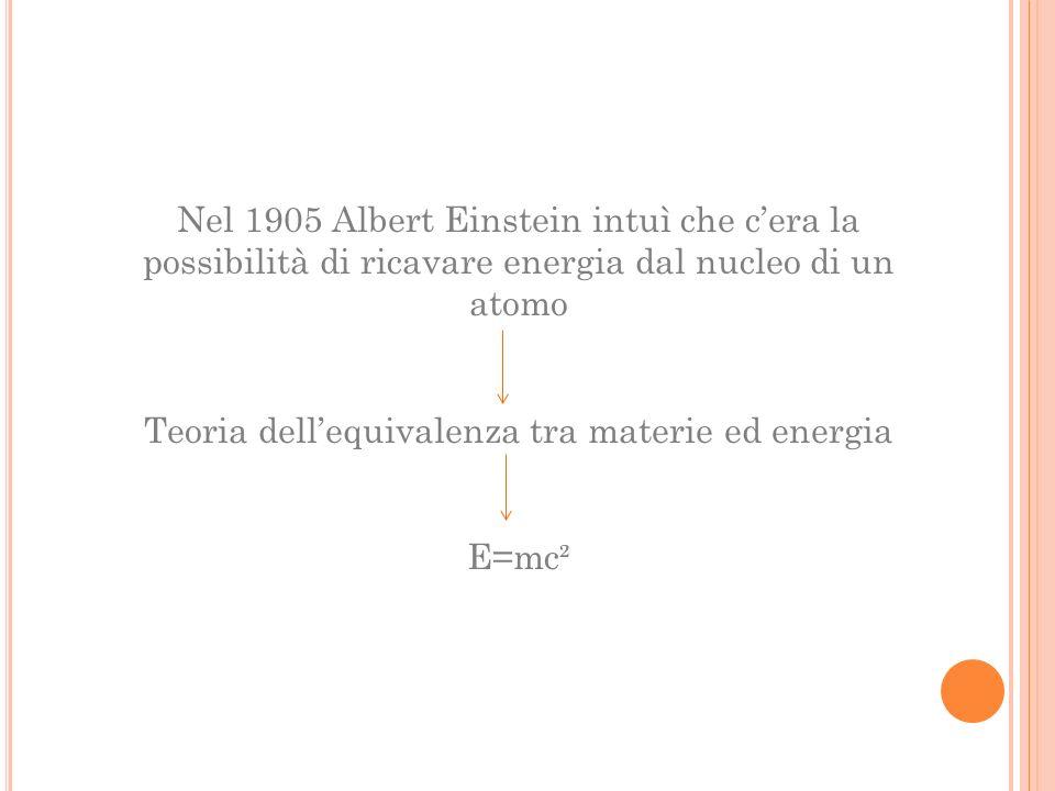 Teoria dell'equivalenza tra materie ed energia