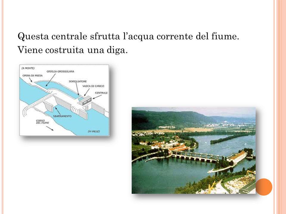 Questa centrale sfrutta l'acqua corrente del fiume