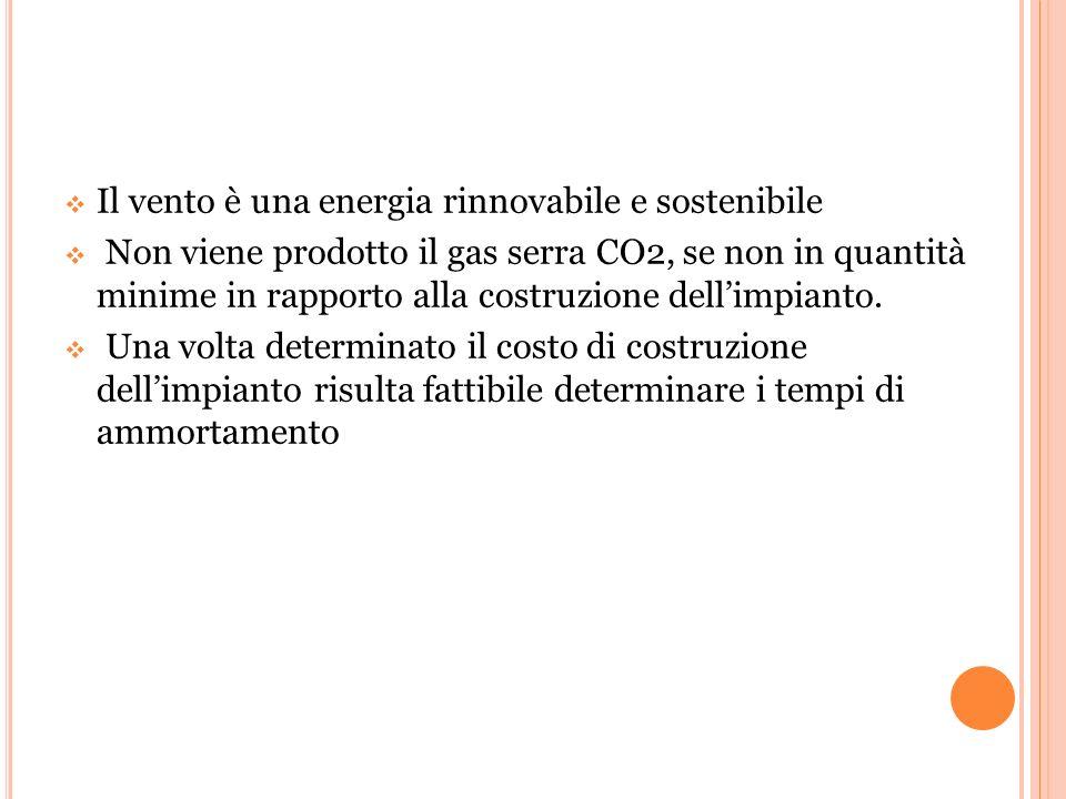 Il vento è una energia rinnovabile e sostenibile