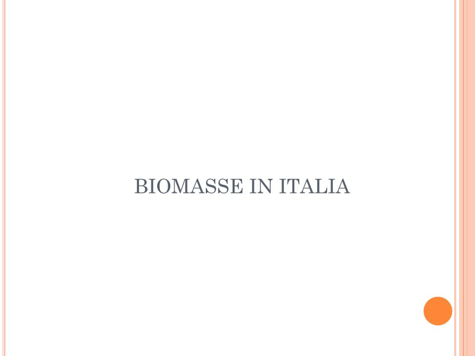 BIOMASSE IN ITALIA