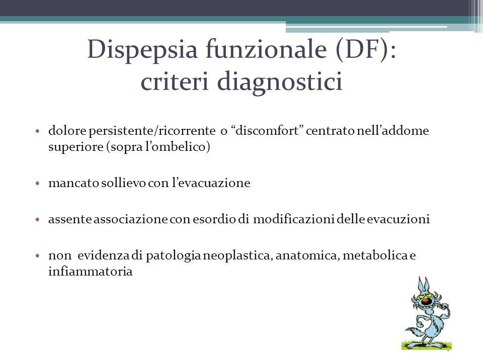 Dispepsia funzionale (DF): criteri diagnostici