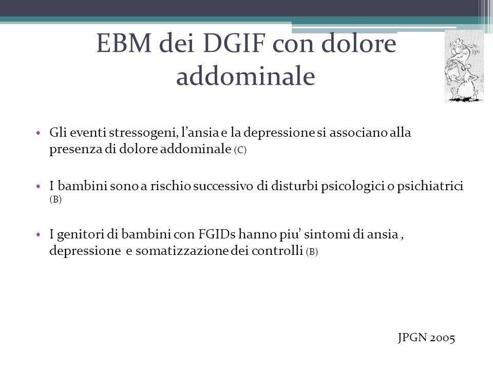 EBM dei DGIF con dolore addominale