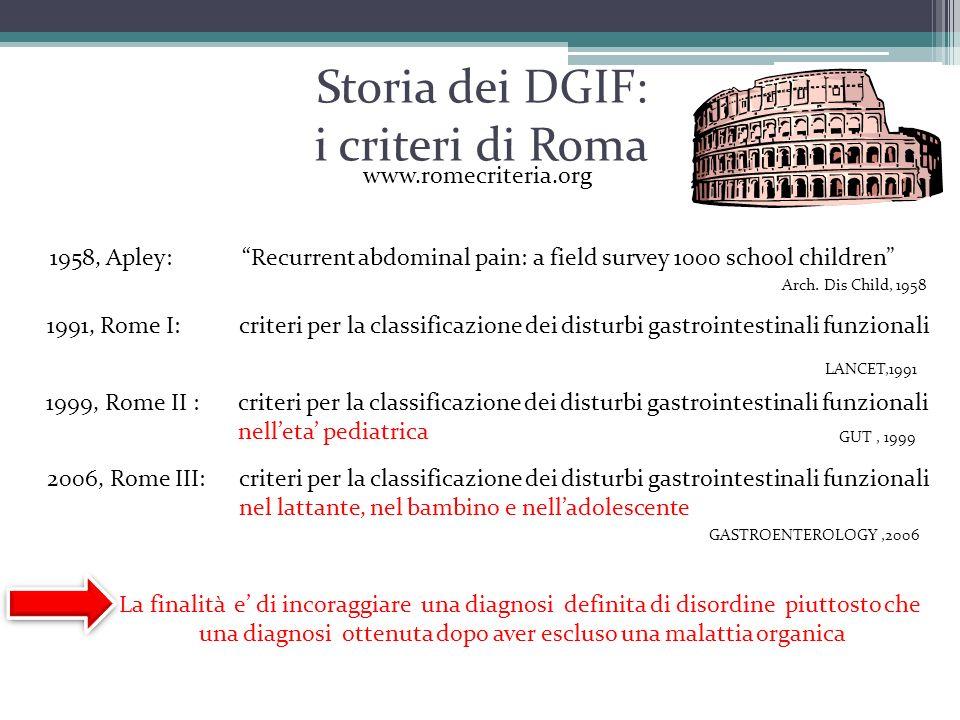 Storia dei DGIF: i criteri di Roma