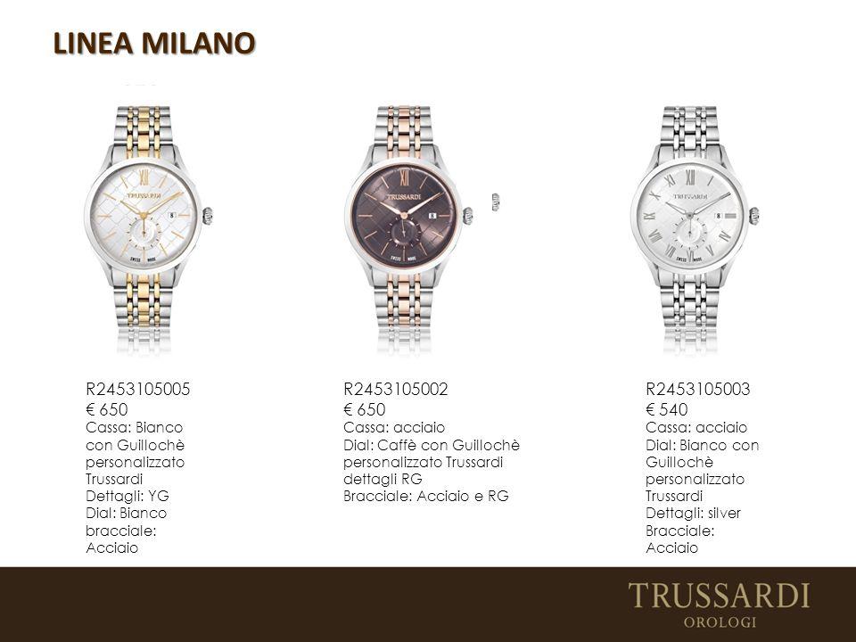 LINEA MILANO R2453105005 € 650. Cassa: Bianco con Guillochè. personalizzato Trussardi. Dettagli: YG.