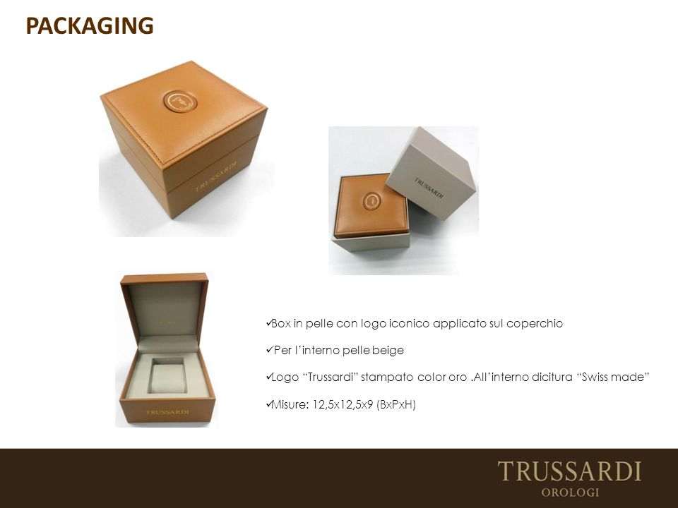 PACKAGING Box in pelle con logo iconico applicato sul coperchio